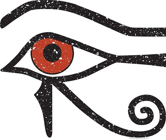 Eye Of Horus Ancient Egyptian Symbol Of Protection On White Posters