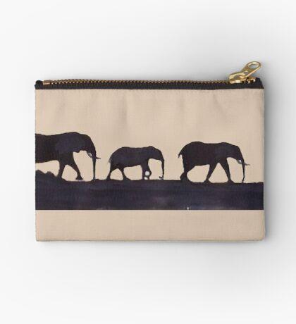 Lodge décor  - Mix & Match Throw Pillow - Elephants Zipper Pouch