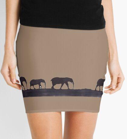 Lodge décor  - Mix & Match Throw Pillow - Elephants Mini Skirt