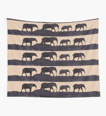 Lodge décor  - Mix & Match Throw Pillow - Elephants Wall Tapestry