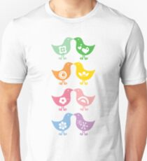Retro Rainbow Kissing Chicks T-Shirt