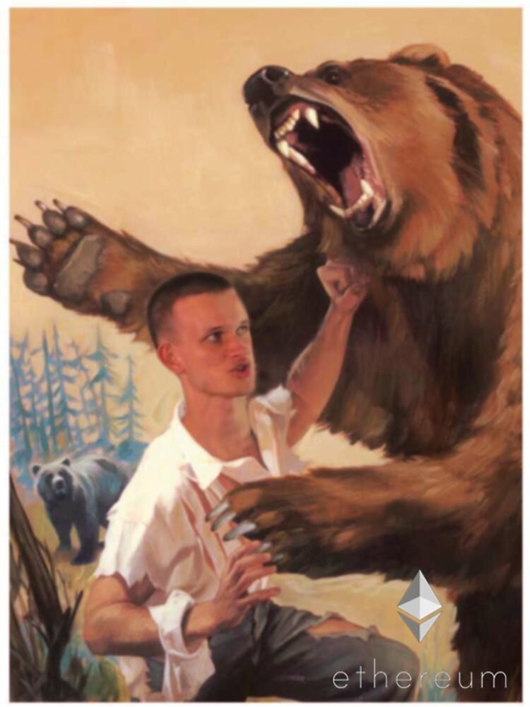 Vitalik Fighting Bear by MillSociety