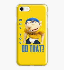 WHY YOU DO THAT? SML JEFFY iPhone Case/Skin