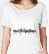 Glasgow Skyline in B&W Women's Relaxed Fit T-Shirt