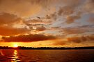 Sunset on the St. Lawrence River by Kathleen Daley