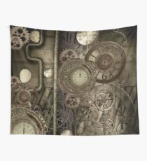 Steampunk, clocks and gears Wall Tapestry