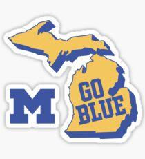 Michigan The Great Lake State Go Blue Sticker