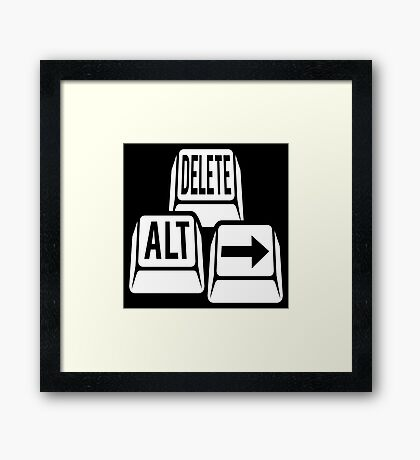 Delete Alt Right Framed Print