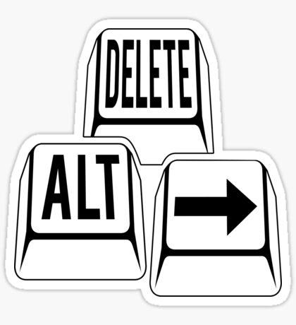 Delete Alt Right Sticker