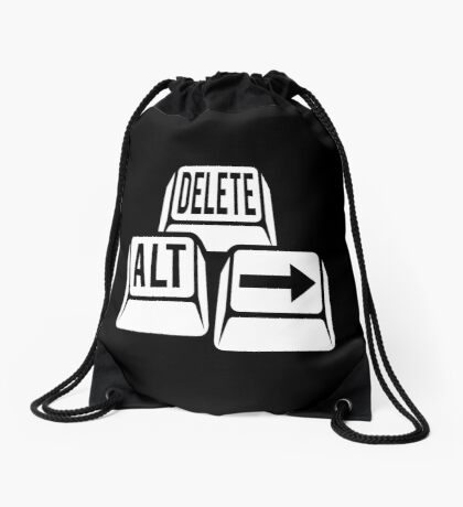 Delete Alt Right Drawstring Bag