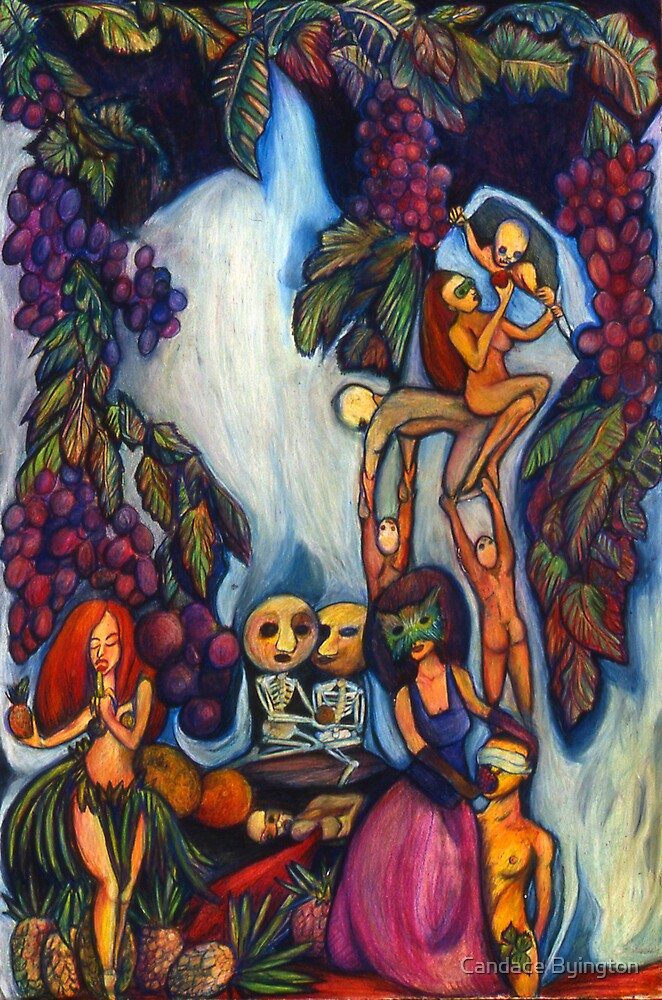 Surreal Colorful Drawing About Gluttony by Candace Byington