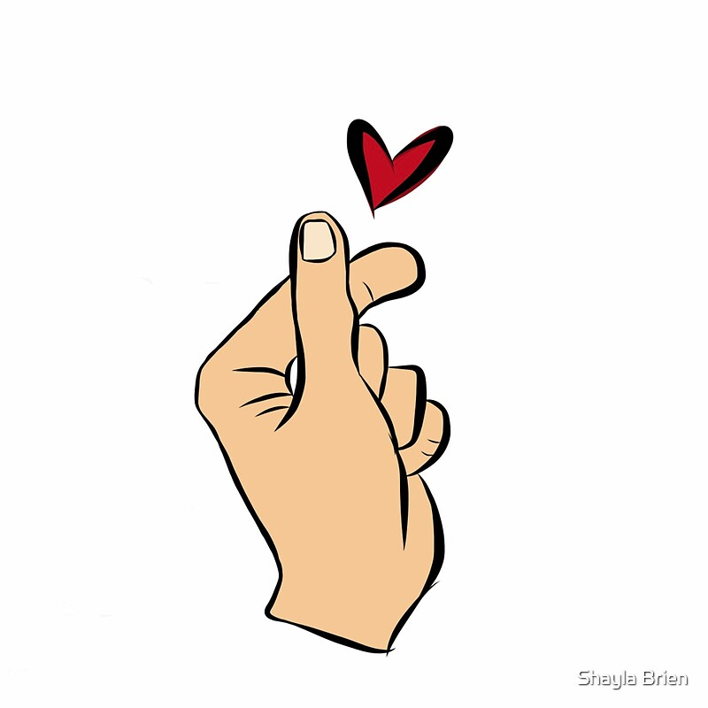 Quot Kpop Finger Heart Ver 1 Light Skin Quot Stickers By Shayla