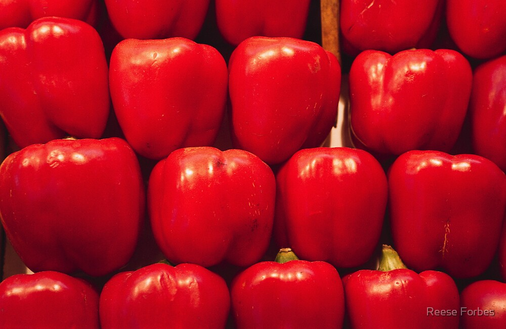 Red Bell Peppers by Reese Forbes
