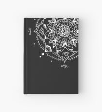 Mandala on Black Background Hardcover Journal