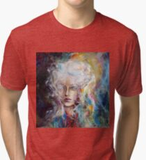 Let the fire burn the ice, 100-100 cm, 2017, oil on canvas Tri-blend T-Shirt