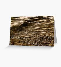 Water Surface Greeting Card