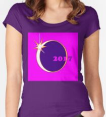 A Wedding Ring Eclipse piece of Art for 2017 Women's Fitted Scoop T-Shirt