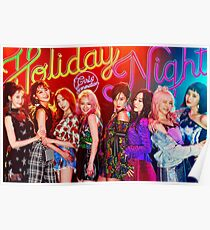 Girls Generations Holiday Night Poster