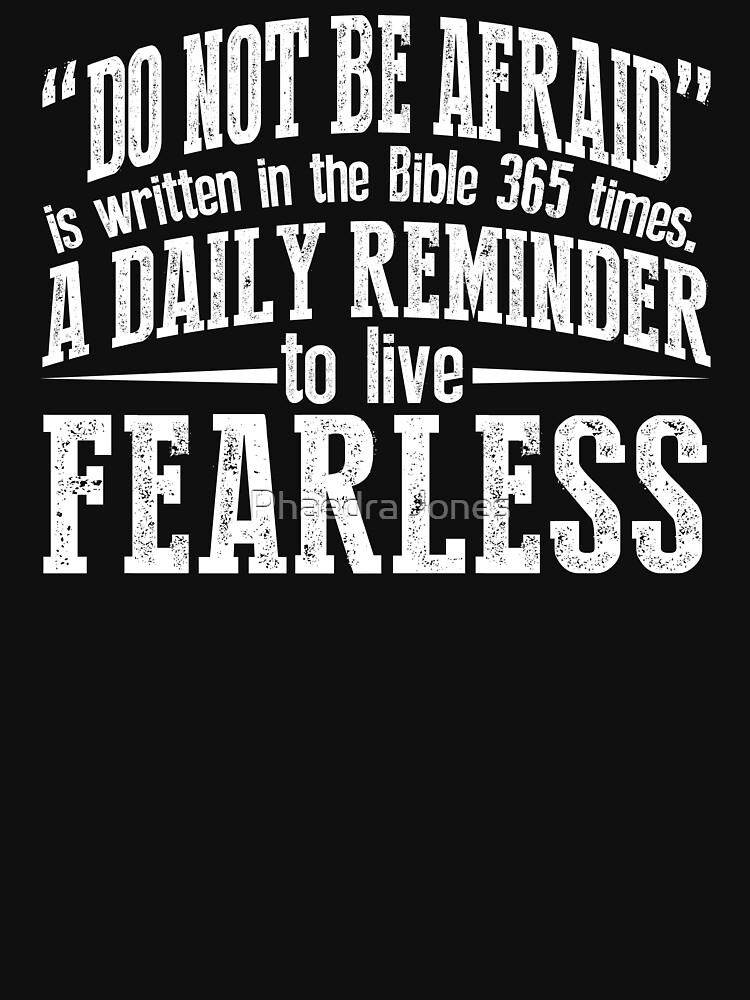 Do Not Be Afraid Christian Bible Quote Fitness Church Shirt by Top10Merch