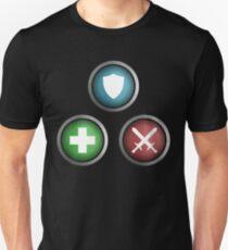 Gaming RPG Roles - Tank, Healer, DPS T-Shirt