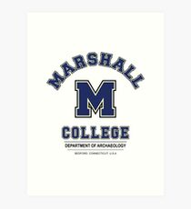 Indiana Jones - Marshall College Archaeology Department Variant Art Print