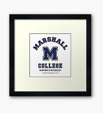 Indiana Jones - Marshall College Archaeology Department Variant Framed Print