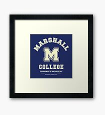Indiana Jones - Marshall College Archaeology Department Framed Print
