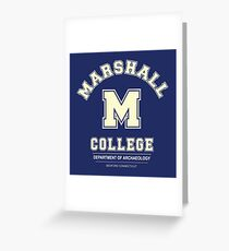 Indiana Jones - Marshall College Archaeology Department Greeting Card