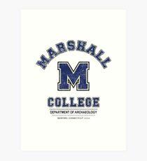 Indiana Jones - Marshall College Archaeology Department Distressed Variant  Art Print