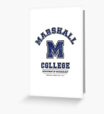 Indiana Jones - Marshall College Archaeology Department Distressed Variant  Greeting Card