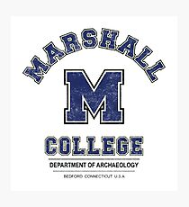 Indiana Jones - Marshall College Archaeology Department Distressed Variant  Photographic Print