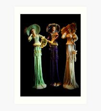 Three Victorian Ladies Art Print