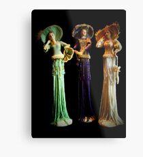 Three Victorian Ladies Metal Print