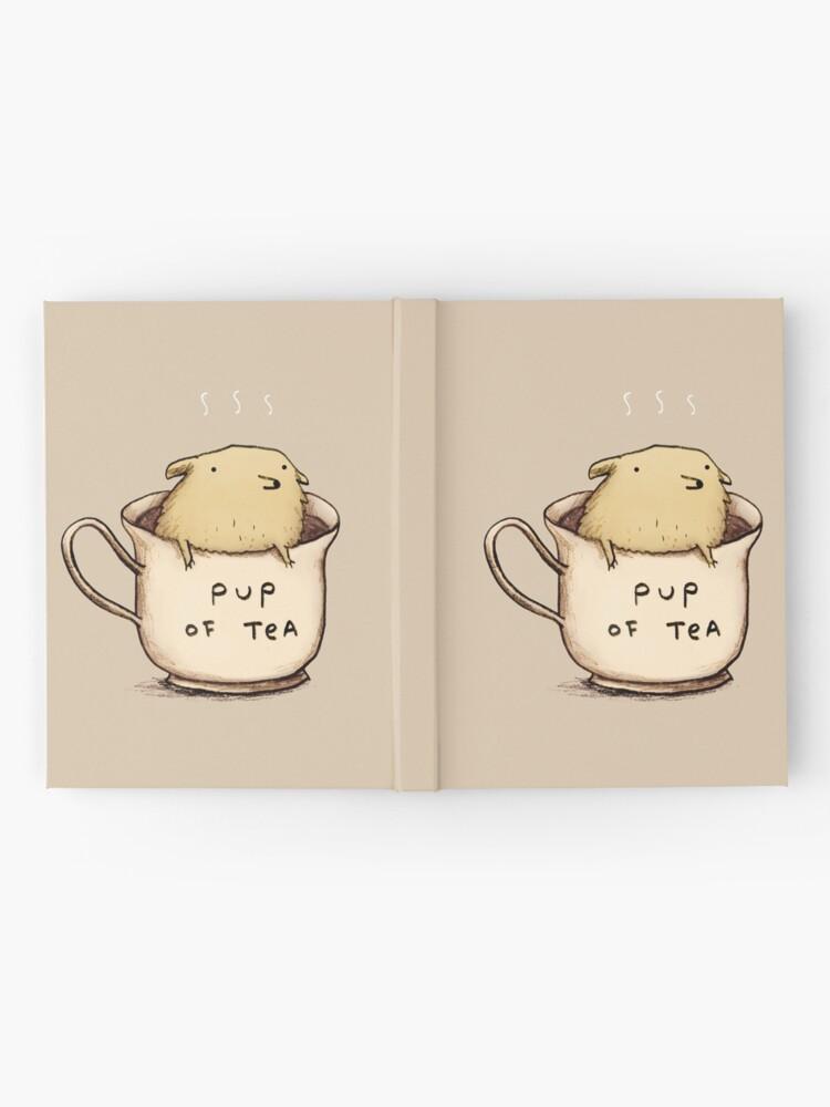 Vista alternativa de Cuaderno de tapa dura Pup of Tea