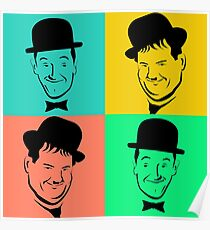 Laurel and Hardy Pop Art Tribute Poster