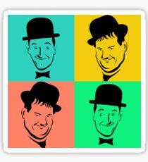 Laurel and Hardy Pop Art Tribute Sticker