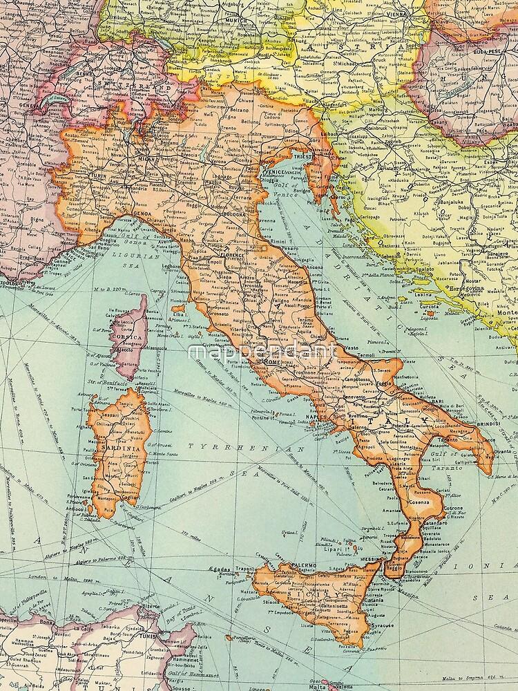 Vintage Italien Karte von mappendant