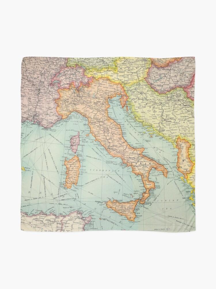 Alternative Ansicht von Vintage Italien Karte Tuch