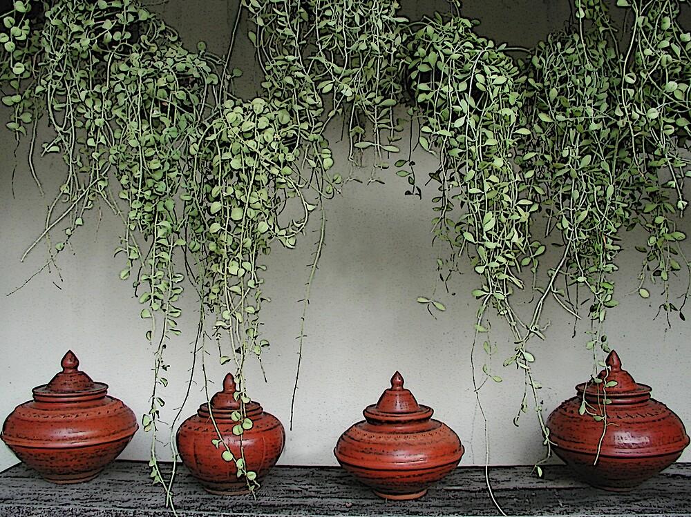 A Row of Pots by Tom  Reynen