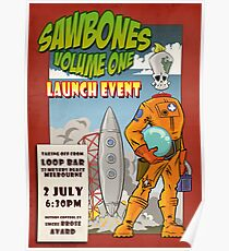 Sawbones Launch poster: Sawyer edition w/text Poster