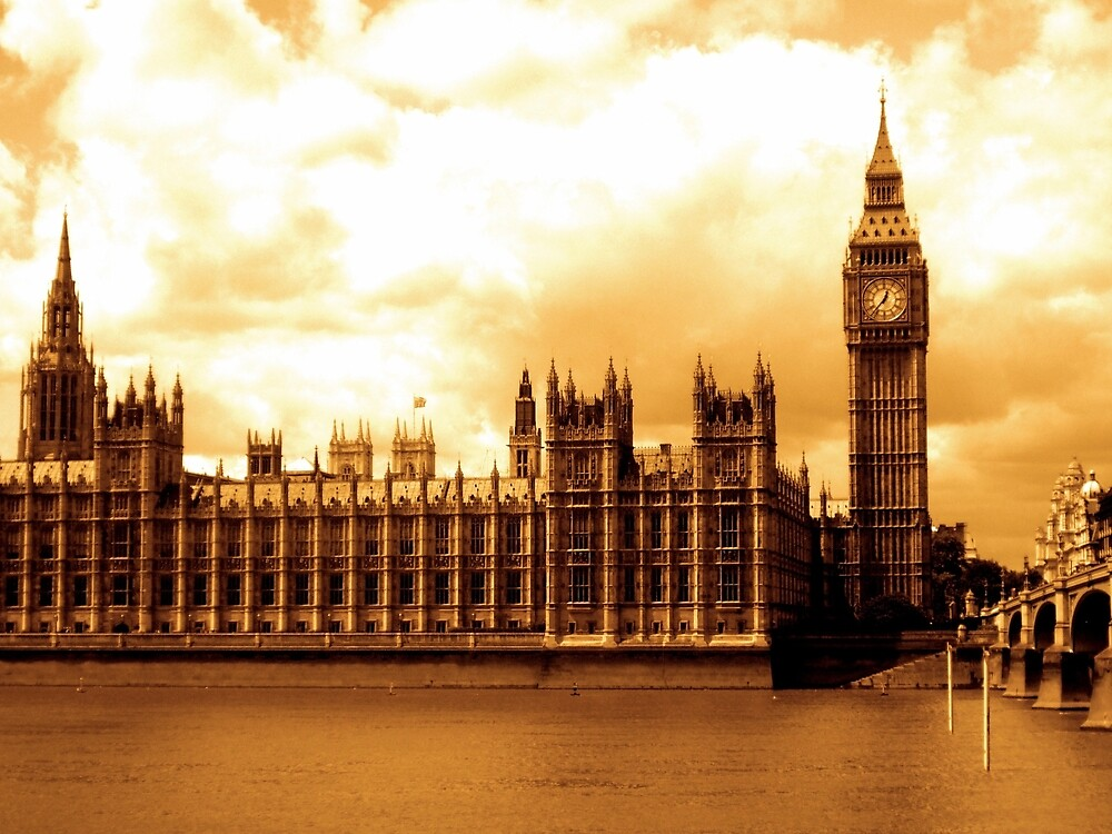 Big Ben London Gold by tylermaclean24