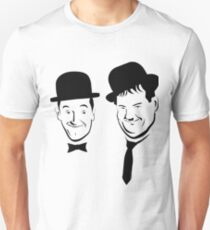Laurel and Hardy Ink in Black and White  T-Shirt