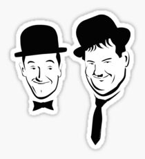 Laurel and Hardy Ink in Black and White  Sticker