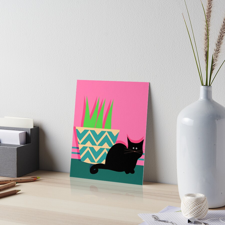 Cute cat and potted plant by cocodes