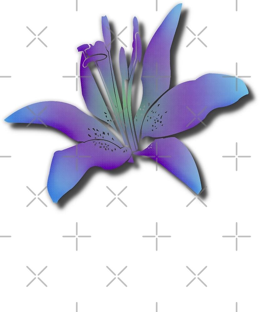 Lily Purple Flower Beautiful Lilies Meditation Yoga Garden by twizzler3b