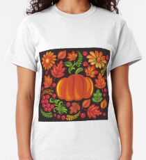 Pumpkin with flowers in Ukrainian style Classic T-Shirt