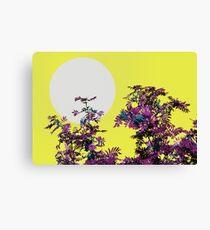 Yellow sky and rowan tree Canvas Print