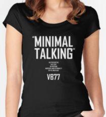 Minimal Talking Women's Fitted Scoop T-Shirt