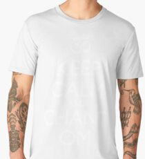"Aum symbol and ""Keep Calm and Chant Om"" sign Men's Premium T-Shirt"