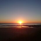 Beautiful Beach Sunrise  by FangFeatures